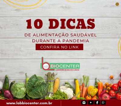 10 Dicas de alimentação saudável em tempos de pandemia