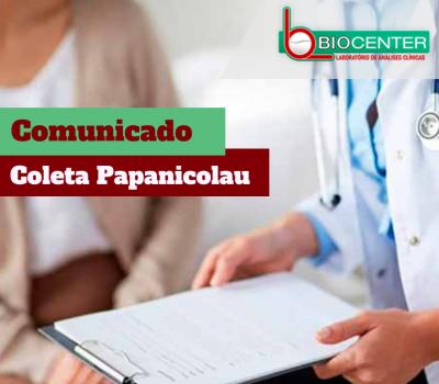 Comunicado: Exame Papanicolau