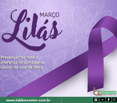 Março Lilás: prevenção ao Câncer de Colo de Útero