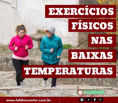 [Dicas de Saúde] Temperaturas baixas não devem desestimular a rotina de exercícios físicos
