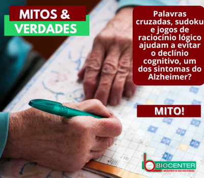 Mitos e Verdades: Palavras cruzadas, sudoku e jogos de raciocínio lógico ajudam a evitar o declínio cognitivo, um dos sintomas do Alzheimer?