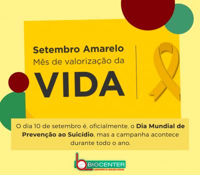 Setembro Amarelo: Mês de Prevenção ao suicídio!